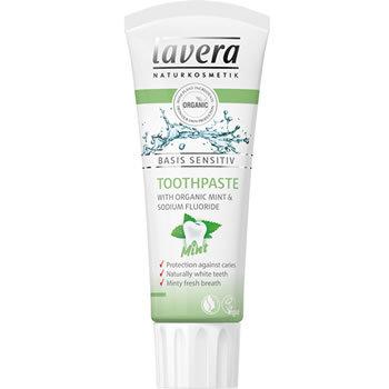 Lavera Basis Sensitive Organic Toothpaste Mint with Fluoride 75ml