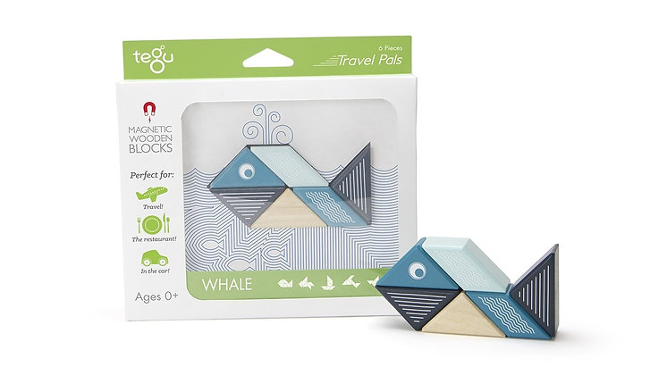 Tegu Magnetic Block Travel Set - Whale