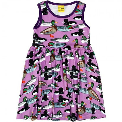 Adult Mama Duns Duck Pond Twirly Dress - Violet