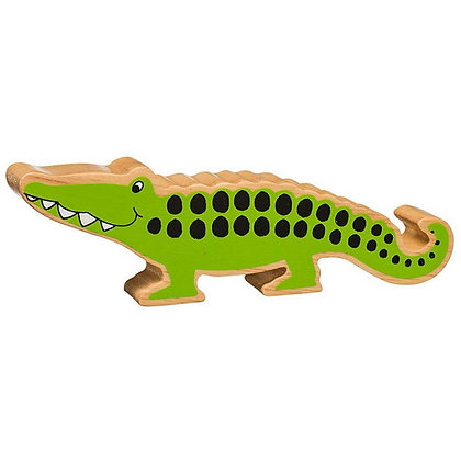 Lanka Kade Natural Wooden Green Crocodile NC250