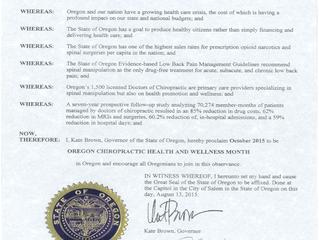 Chiropractic Health & Wellness Month