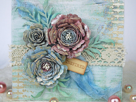 Shabby Flower Card