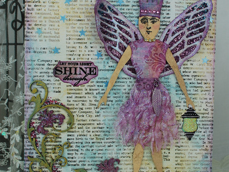 Girlie Grunge Art Doll Angel Canvas