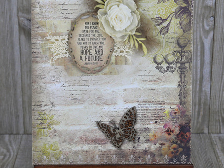 """""""Hope and a Future"""" Journal Page by Tracey Sabella"""