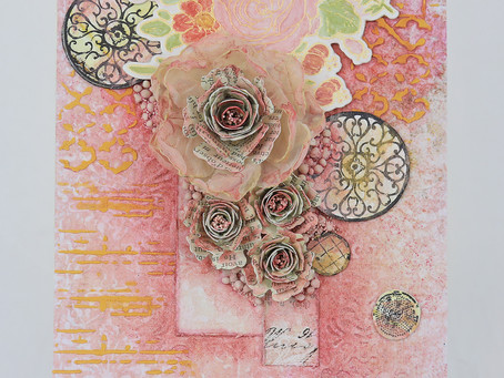 Coloring with Pigment Powders ~ Mixed Media Card by Tracey Sabella