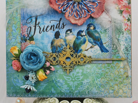 """Friends"" Mixed Media Card"