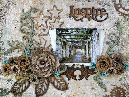 """Inspire"" Girlie Grunge Layout"