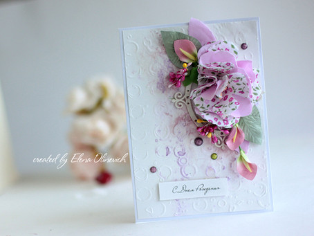 Summer Floral Card with Flower Tutorial