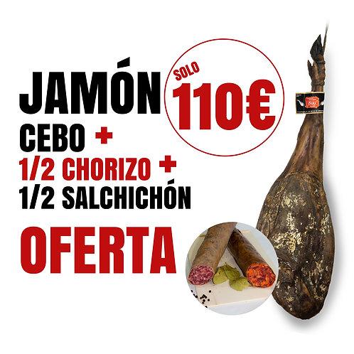 OFERTA JAMÓN + CHORIZO + SALCHICHÓN