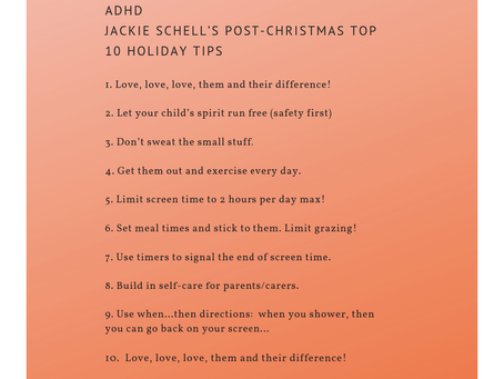LOVING HOLIDAY TIPS for ADHD Kids