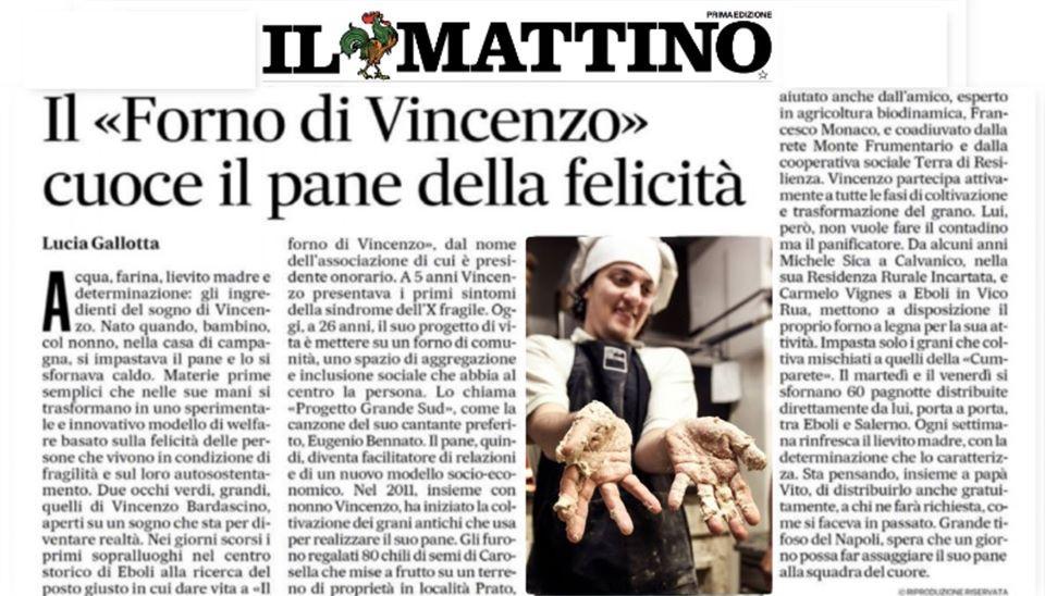 """il """"Forno di Vincenzo"""" cuoce il pane della felicità"""