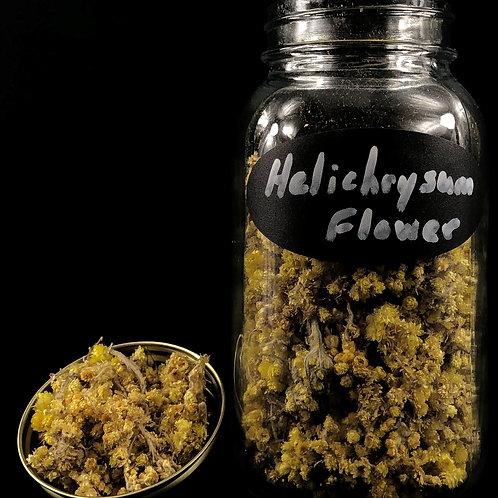 Helichrysum Flowers  ORGANIC  (Sold per ounce)