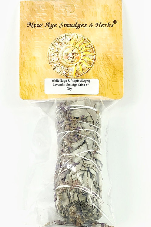 White Sage with Lavender Stick
