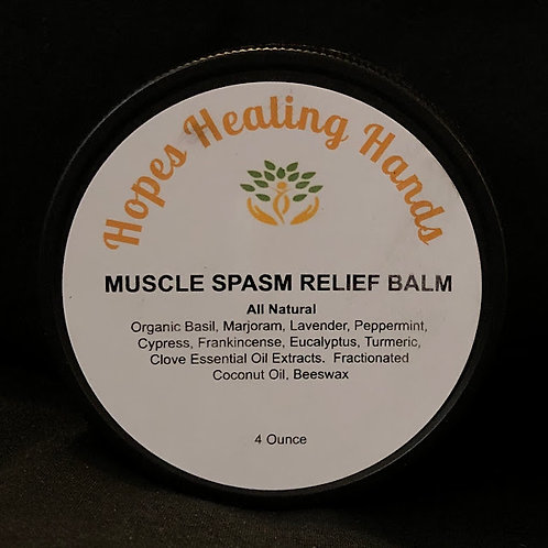 Muscle Spasm Relief Balm- 4 ounce