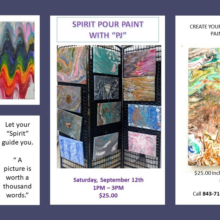 """Spirit Pour Paint with """"PJ"""""""