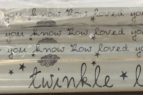 Twinkle Twinkle Shelf Plaque