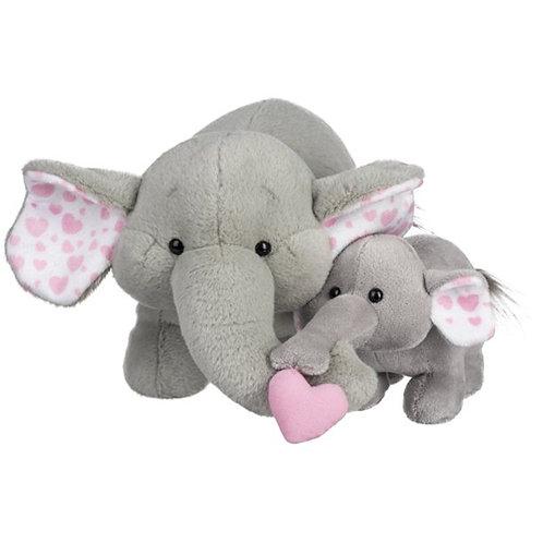 Momma and Baby Elephant