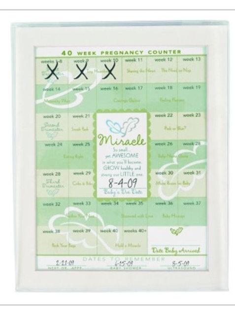 Gestational Pregnancy Erasable Calendar