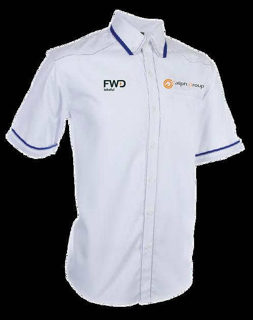 Men Caliph 2021 Corporate Shirt - White
