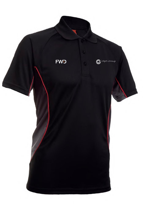 Caliph Exclusive Polo Shirt Black/Red