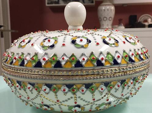 Plat avec couvercle céramique berbère (Ref CE105)