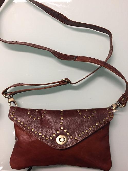 Petit sac /Pochette tout cuir (ref P53)