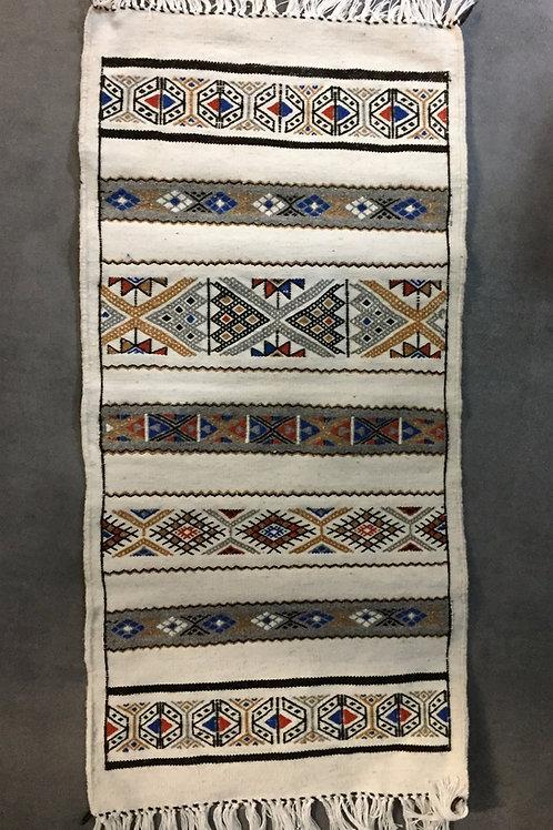 Petit tapis berbère - blanc (Ref TAP 101)