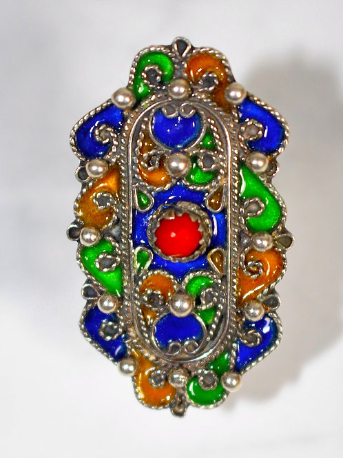 Bague traditionnelle kabyle rectangle
