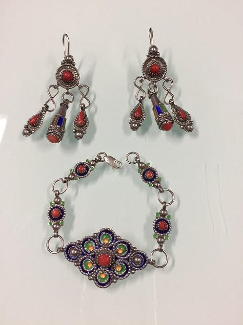 Parure Bracelet | Boucles d'oreille (ref PAR 100)