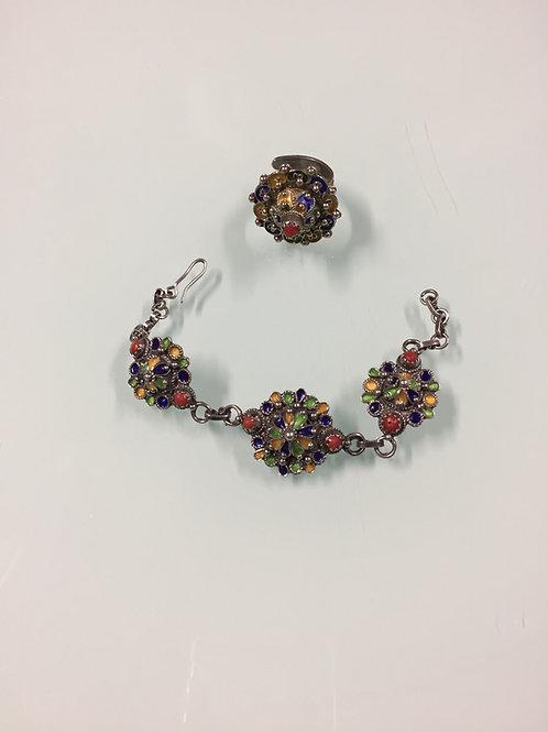 Parure berbère bracelet | bague (ref PAR102)
