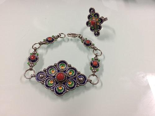 Parure kabyle bracelet | bague (ref PAR 103)