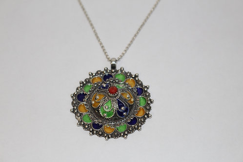 Collier pendentif kabyle traditionnel