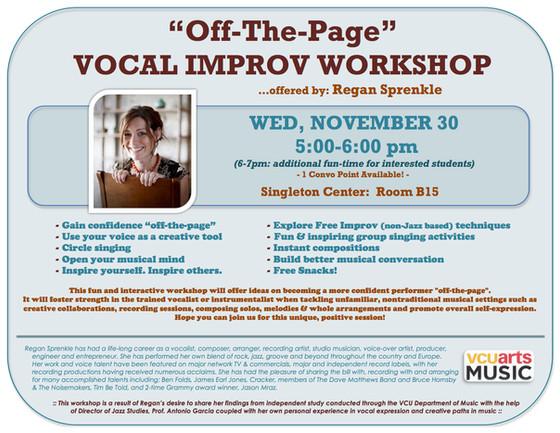 Vocal Improv Workshop at VCU