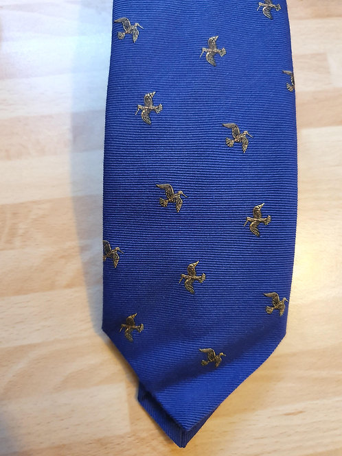 FORT AND STONE WOODCOCK IN FLIGHT ON PURPLE TIE