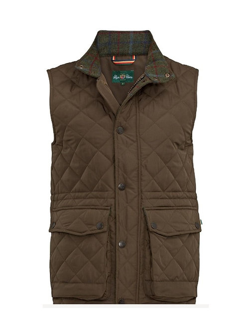 ALAN PAINE OLIVE SURREY QUILTED GILET
