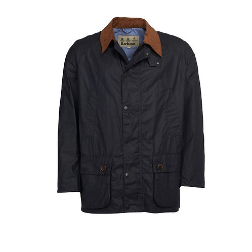 BARBOUR ROYAL NAVY HOPSACK WAXED JACKET