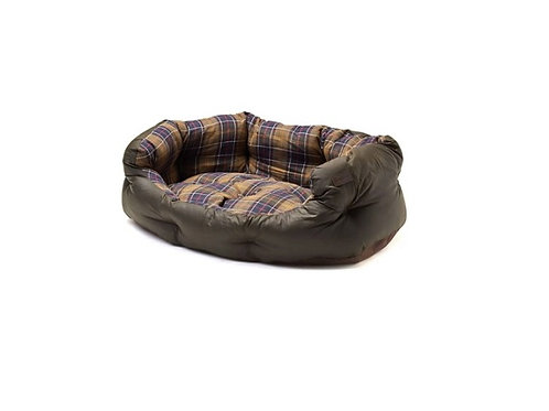"BARBOUR OLIVE WAXED COTTON 24"" DOG BED"