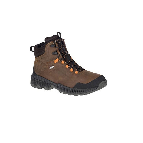 MERRELL DARK EARTH FORESTBOUND MID WATERPROOF WALKING BOOTS