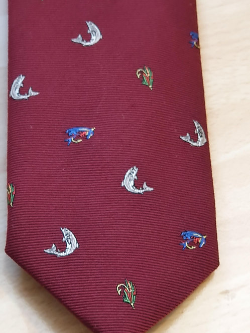 FORT AND STONE FLY AND TROUT ON RED TIE