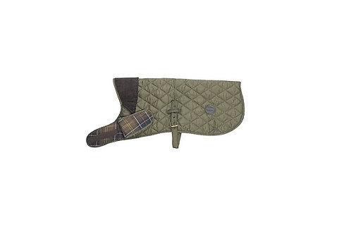 BARBOUR OLIVE QUILTED DOG COAT