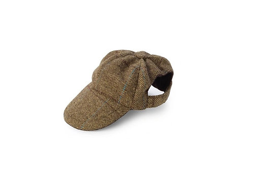 HOUSE OF PAWS BROWN TWEED HAT