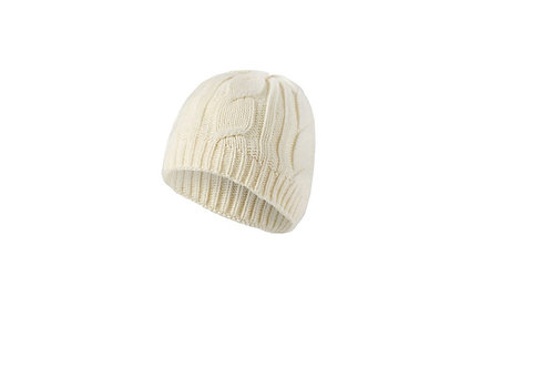 SEALSKINZ CREAM WATERPROOF CABLE KNIT BEANIE HAT