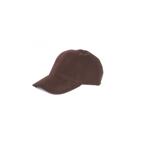 BARBOUR BROWN MOLESKIN SPORTS CAP