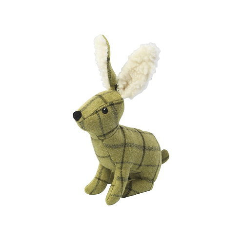 HOUSE OF PAWS PLUSH TWEED HARE DOG TOY