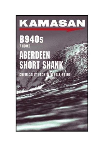 KAMASAN B940S SHORT SHANK ABERDEEN 3/0 PACK OF 6 HOOKS