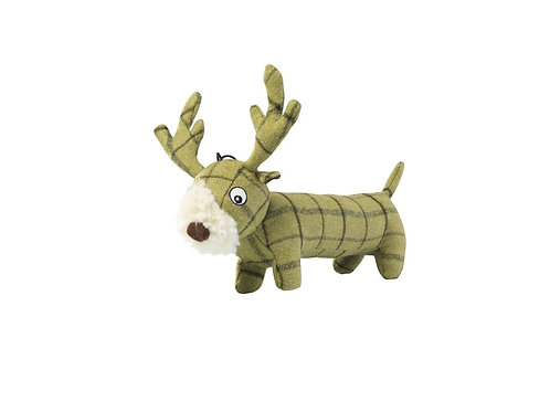 HOUSE OF PAWS PLUSH TWEED LONG STAG DOG TOY