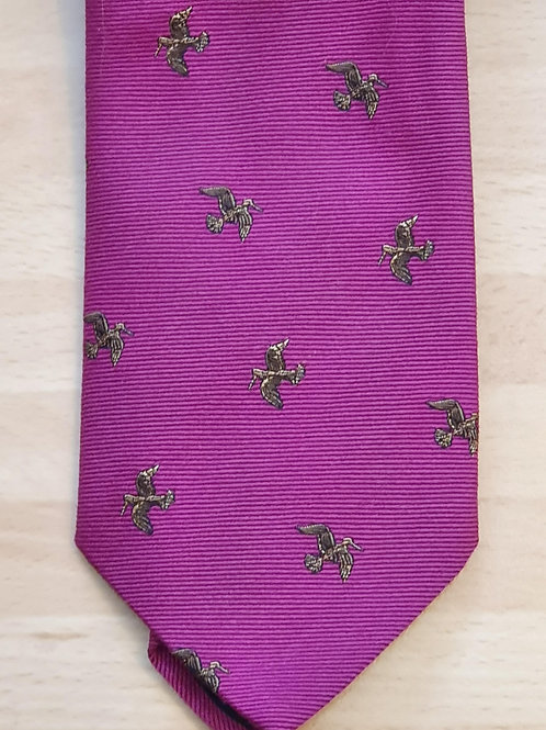 FORT AND STONE WOODCOCK IN FLIGHT ON PINK TIE