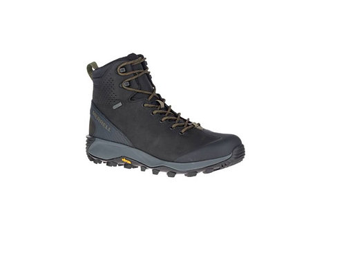 MERRELL BLACK THERMO GLACIER MID WATERPROOF WALKING BOOTS