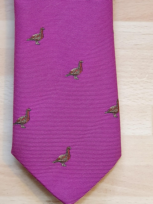 FORT AND STONE  GROUSE ON PINKTIE
