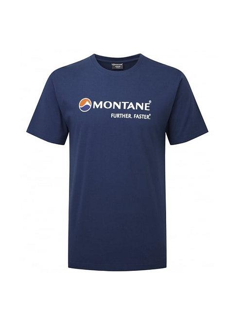 MONTANE ANTARCTIC BLUE LOGO TEE SHIRT